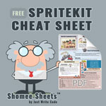 free spritekit cheat sheet